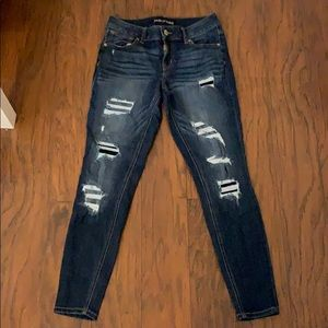 MAURICES Skinny Jeans Destroyed